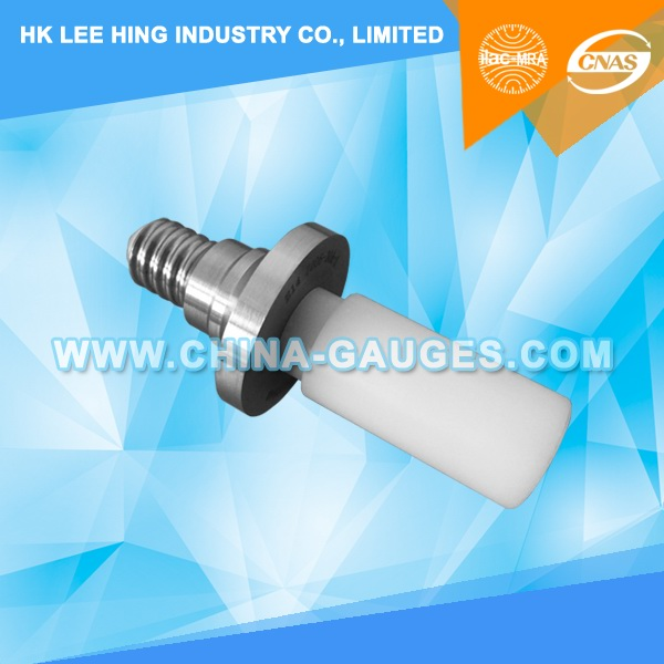 IEC 60061-3: 7006-30A-1 Plug Gauge for Lampholder E14 with Candle Shaped Shaft for Candle Lamps for Testing Contact Making